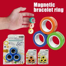 FinGears Magnetic Rings Anti-stress Finger Toys Rotating Magnetic Rings 3pcs/Set