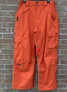 The North Face Cryptic Recco Hyvent Rescue Snow Pants Orange Men Size Large
