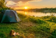 Camping On The River Bank Vinyl Studio Backdrop Photography Props Photo