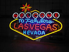"""New Welcome to Las Vegas Nevada Acrylic Light Lamp Neon Sign 24"""""""