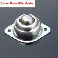 Silver Trolleys Rack Wide Screw Mounted Round Ball Swivel Castor Casters 1-4PCS