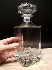 26oz Antique Vintage Style Glass Whiskey Medicine Apothecary Decanter Bottle