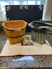 Longaberger Christmas Collection 1998 Edition Glad Tidings Basket liner and docs