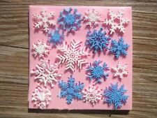 Christmas Snowflake Silicone Fondant Mold Cake Sugarcraft Topper Decor Mould DIY