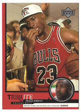 Michael Jordan 1999 Upper Deck Tribute Bulls win third Title Basketball Card