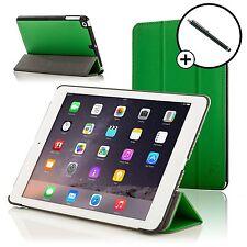 Pelle Verde Smart Custodia Pieghevole Cover per Apple iPad Air e Stilo