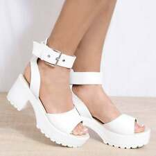 CLEATED PLATFORMS HIGH HEELS STRAPPY SANDALS PEEP TOES LACE UPS ANKLE STRAP SHOE