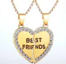 BROKEN HEART 2 PART BEST FRIEND NECKLACE PENDANT- SHARE WITH YOUR FRIEND