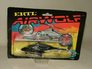VINTAGE ERTL 1:64  DIECAST SCARCE AIRWOLF HELICOPTER NEW SEALED ON CARD #1231