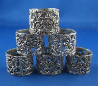 Hildesheimer Rose 6x Serviettenring Christoph Widmann 925er Sterling Silber