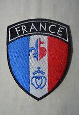 insigne patch catholique écusson drapeau France Fleur de Lys Sacré Coeur Coeur