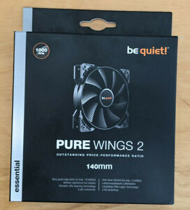 be quiet! BL047 Pure Wings 2, 3 Pin 140 mm and 1000 rpm Case Fan Cooling Device