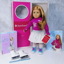 "American Girl 18"" MIA DOLL + ICE SKATES & ACCESSORIES Red Hair Hazel Eyes AG BOX"