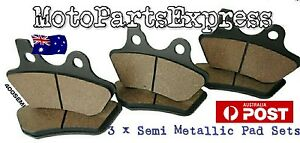 HARLEY DAVIDSON FRONT AND REAR BRAKE PADS DYNA WIDE GLIDE 1450 FXDWG FXDS