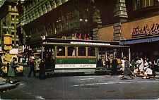 Cable Car Turntable Unused Postcard San Francisco Eddy Street The Owl Diner View