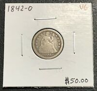 1842-O U.S. SEATED LIBERTY DIME ~ VERY GOOD CONDITION! $2.95 MAX SHIPPING! C2858
