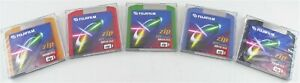 Fujifilm 5 Color Pack of 100MB ZIP Disks IBM Formatted New Sealed