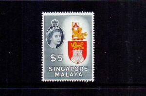 SINGAPORE 1955 $5 ARMS SG52 MNH CAT £42