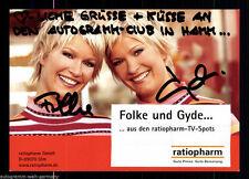 Folke und Gyde TOP AK Orig. Sign. u.a. Ratiopharm + 67983