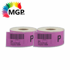 2 Compatible for Dymo / Seiko 99012 Light Pink Label 36mm x 89mm Labelwriter450