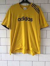 MENS VINTAGE RETRO FESTIVAL YELLOW ADIDAS SHORT SLEEVE T SHIRT TOP XL #82