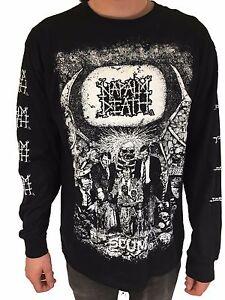 "Napalm Death ""Scum"" Long Sleeve T shirt - NEW"