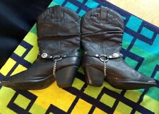 Dingo Olivia Women US 7'W Black Western Boots