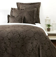 Sferra LAYTON F/Queen Duvet Cover 4 PC MOCHA Egyptian Cotton Sateen Jacquard New