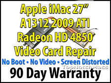 "APPLE IMAC 27"" 2009 A1312 ATI RADEON HD 4850 VIDEO CARD REPAIR 661-5315 NEW GPU"
