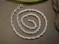 Wunderbare 835 Silber Kette Jugendstil Art Deco Collier Geflochten Zopf Edel