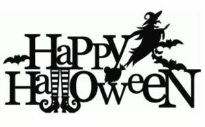 Happy Halloween Bucket Wall Window Vinyl Decal Stickers Decoration