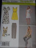 Dress Tunic Pants Misses size XXS-XXL Simplicity 1810 Sewing Pattern