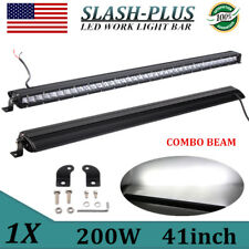 41Inch 200w Single Row CREE LED Light Bar 3D Lens Offroad RZR Driving VS 40/42""