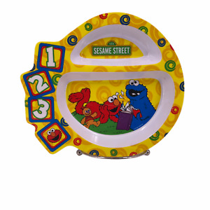 Sesame Street Divided Plate Elmo & Cookie Monster - The First Years