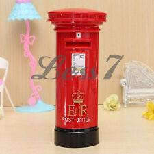 Fancy British London Letter Post Box Bank Money Box For Saving Coins Cash Gift タ