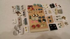Mixed Lot of 50 pairs Vintage to Modern Earring pierced post danglers