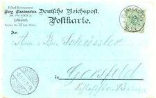 DT.REICH Gruß-Aus Burg BLANKENSTEIN (HATTINGEN, RUHR) 1899 herrliche Farblitho
