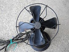 "Vintage AC Gilbert Co Polar Cub 6"" Desk Fan Complete Made In USA Runs GOOD"
