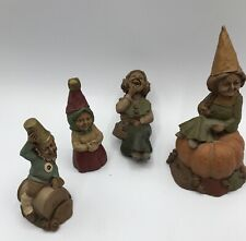 Vintage Tom Clark Gnome, Lot of 4, Darn, Pumpkin 49, Madre, and L
