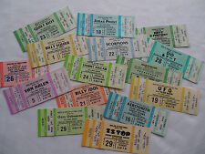 15 Original CONCERT TICKET Lot- AEROSMITH- VAN HALEN- ZZ TOP- SCORPIONS- RAINBOW