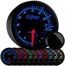52mm GlowShift Elite 10 Color 2200 F Exhaust Gas Temperature EGT Gauge - GS-ET08