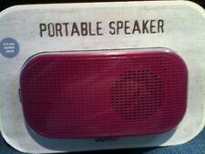 New Purple Vivitar Portable speaker 3.5 mm Audio Jack