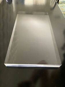 "Elegant Acrylic/Plexiglass block / Display / base 1""x7""x13"""