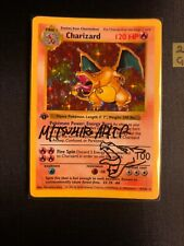 Charizard 4/102 1st Edition Shadowless Signed By Mitsuhiro Arita Pokemon Card