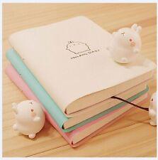 2017-2018 Cute Kawaii Notebook Cartoon Molang Rabbit Journal  Diary Planner Note