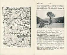 Daun Manderscheid Gerolstein 1908 kl. orig. Wanderkarte + Wanderf. (5 S) Kalltal