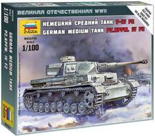 Zvezda #6251 German Medium Tank Pz.Kpfw.IV F2  1/100 (5 pcs)