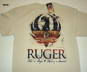 RUGER THIS IS AMERICA     LOGO   T-ShirtS    COYOTE   COLOUR        EXTRA  Large