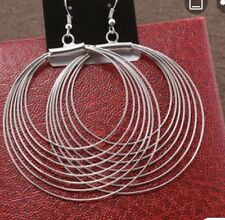 Earring Boho Festival Party Boutique Uk Silver Large Hoop Ring Luxury Fashion