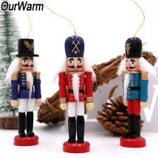 6× Nutcracker Ornaments Wooden Nutcracker Figures Home Christmas Table Top Decor